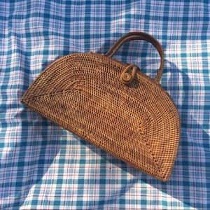 Handbags - peggy fisher wicker basket purse